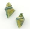 Lamp Bead Nobilis Shell 2Pc 25mm Pineapple